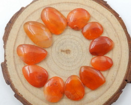 39Cts Agate Gemstone Natural Orange Agate Cabochon Irregular C836