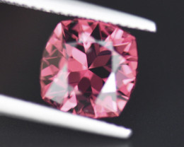 PRECISION CUT RHODOLITE GARNET 3.96CT BLISTERING FIRE