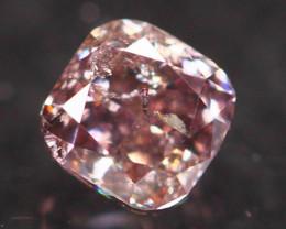 Natural Argyle 0.17Ct Fancy Purplish Pink Natural Diamond A1504