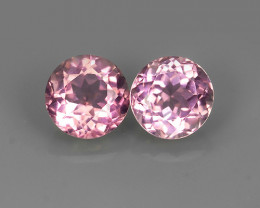 1.60 CTS ROUND CUT 100% NATURAL SOFT-PINK MOZAMBIQUE TOURMALINE GEM