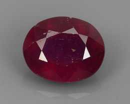 3.80 Cts~Luxurious! Jumbo!  Facet Top Blood Red Natural Ruby!!