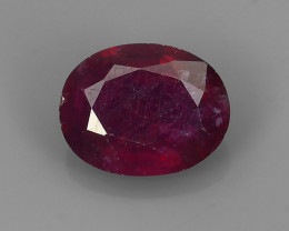 2.70 Cts~Luxurious! Jumbo!  Facet Top Blood Red Natural Ruby!!
