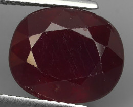 3.65 cts Gorgeous!Jumbo! Facet Top Blood Red Natural Ruby Madagascar!