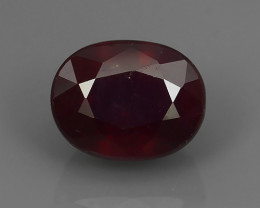 3.90 Cts~Luxurious! Jumbo! Facet Top Blood Red Natural Ruby!!