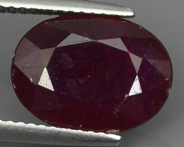 5.05 cts Gorgeous!Jumbo!pear Facet Top Blood Red Natural Ruby Madagascar!