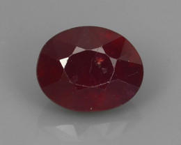 3.80 cts Gorgeous!Jumbo!pear Facet Top Blood Red Natural Ruby Madagascar!