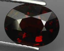 2.60 CTS EXQUISITE NATURAL UNHEATED  COLOR OVAL RED SPESSARTITE GARNET