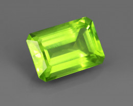 9.55CT PERIDOT with TOP LIME APPLE GREEN