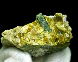 Lovely Epidote and with beautiful Diposite 273 Cts-Pakistan