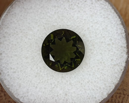 3,88ct Moldavite - Natural faceted Tektite!