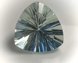 ⭐ 4.20ct Mint Fluorite Concave Trillion Cut No Reserve
