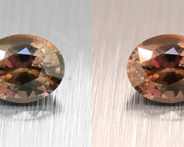 UNHEATED Colour-change Sapphire,  .62ct well-cut (01572)