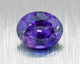 UNHEATED Violet Sapphire 0.46ct well-cut (01563)