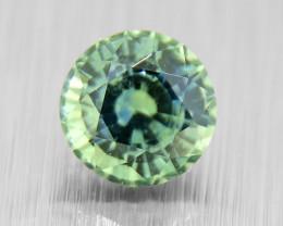 UNHEATED Green Sapphire, good brilliance & cut 0.73ct (01549)