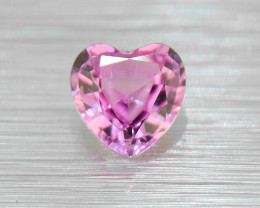 Unheated PINK Sapphire heart,well-cut .43ct (01546)