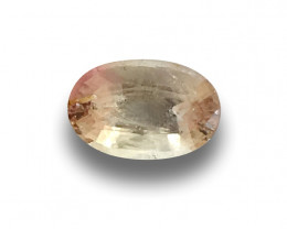 Natural Unheated Pinkish Yellow Sapphire|Loose Gemstone|New