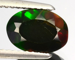 1.12 Cts Smoked Ethiopian Multi-Color Play Opal Oval Cut