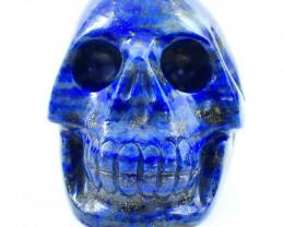 Genuine 1213.00 Cts Blue Lapis Lazuli Skull