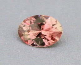 UNHEATED Padparadscha Sapphire .55ct Big Face well-cut 01579