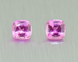 Unheated Pink Sapphire PAIR 0.72ct good brilliance (01522)