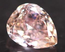 Natural Argyle 0.31Ct Fancy Peach Pink Natural Diamond A1609