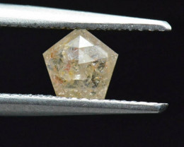 6mm pentagon diamond yellow orange white 0.615ct