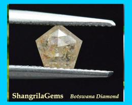 6mm pentagon diamond yellow orange white 0.615ct