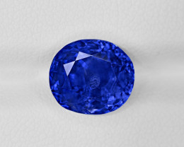 Blue Sapphire, 5.78ct - Mined in Kashmir | Certified by SSEF, Gubelin, AGL,