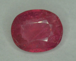 2.15 Cts Heated Pink Rubellite Tourmaline Oval Cut From Afghanistan
