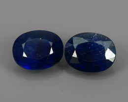 5.1 CTS DAZZLING TOP NATURAL COMPOSITE BLUE SAPPHIRE OVAL MADAGASCAR NR!!!