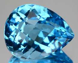 19.67 CTS FANCY SWISS BLUE  COLOR  TOPAZ NATURAL GEMSTONE