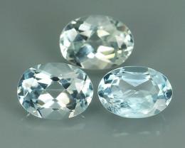 1.90 Cts Sparkling Luster - Oval Gem - Natural Light Blue -Aquamarine NR