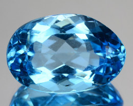 27.47 CTS FANCY SWISS BLUE COLOR TOPAZ NATURAL GEMSTONE