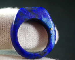 32.95 CT Unheated ~ Natural Blue  color Lapis Carved Ring Special Shape