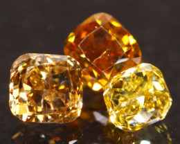 0.59Ct Fancy Cognac Orange Yellow Natural Diamond A1707