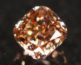 Natural Argyle 0.19Ct Fancy Vivid Peach Pink Natural Diamond A1802