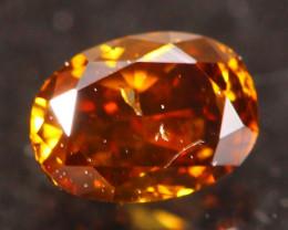 0.23Ct Fancy Vivid Orange Natural Diamond A1809