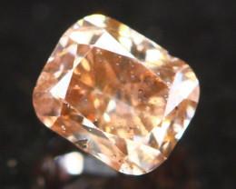 Natural Argyle 0.21Ct Fancy Vivid Peach Pink Natural Diamond A1811