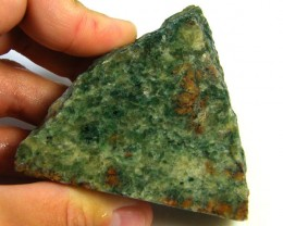 NATURAL AFGHANISTAN GREEN AGATE SLAB 725CTS SGS 1165