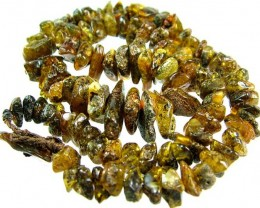 AMBER BALTIC BEAD  -NATURAL STRAND- CTS [MX21 ]