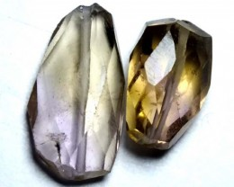 AMETHYST FACETED BEAD (2PCS) 11.70CTS NP-1443