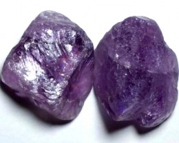 AMETHYST DRILLED BEAD (2PCS) 107.90CTS NP-1482