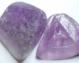 FLOURITE DRILLED BEAD (2PCS) 107.20CTS NP-1473