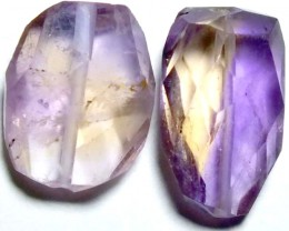 AMETHYST FACETED BEADS (2PCS) 11.45CTS NP-1441