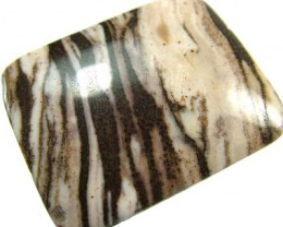BROWN  ZEBRA JASPER -DRILLED -AUSTRALIA 80.6 CTS [MX2555 ]