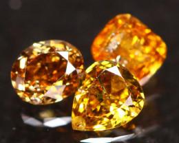 0.44Ct Fancy Vivid Orange Yellow Natural Diamond B1811