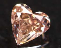 Natural Argyle 0.26Ct Fancy Peach Pink Natural Diamond A1904
