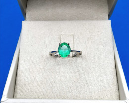1,20ct Colombian Emerald 18k Solid Gold Ring Colombian Emerald Colombian Em