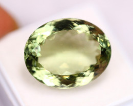 21.59ct Green Prasiolite Oval Cut Lot P238