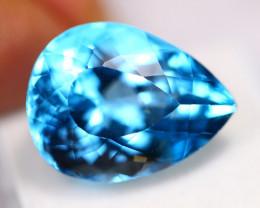 31.73Ct Swiss Blue Topaz Pear Cut Lot LZ2662